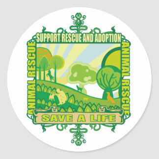 Support Animals Round Stickers