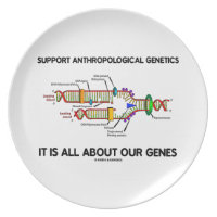 Support Anthropological Genetics About Our Genes Dinner Plates