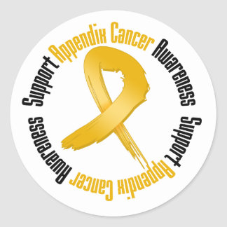 Support Appendix Cancer Awareness Classic Round Sticker