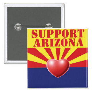 SUPPORT Arizona, AZ 2 Inch Square Button