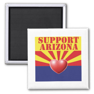 SUPPORT Arizona, AZ 2 Inch Square Magnet