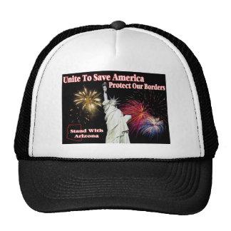 Support Arizona SB 1070 - Unite to Save America Mesh Hat
