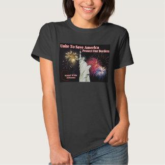 Support Arizona SB 1070 - Unite to Save America T-shirt