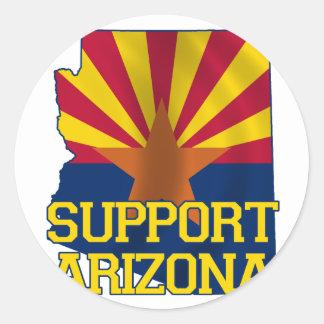 Support Arizona Classic Round Sticker