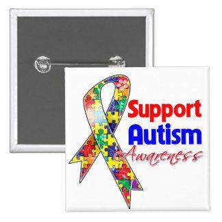 Support Autism Awareness Pin