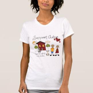 Support Autism Awareness Ladies Scoop Neck T-Shirt