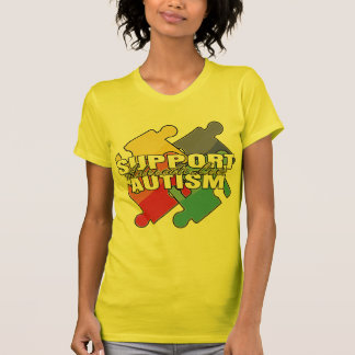 Support Autism Awareness Puzzle Pieces T Shirts