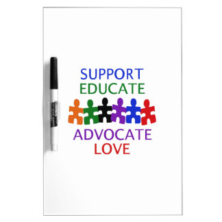 SUPPORT AUTISM Dry-Erase WHITEBOARDS