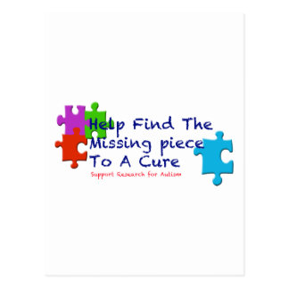 Support Autism Find a Cure Postcard
