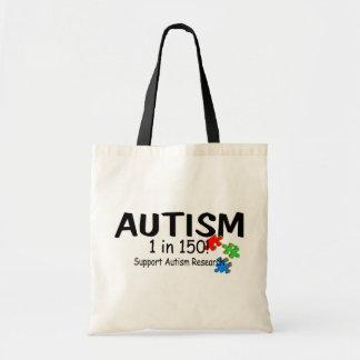 Support Autism Reachers Puzzle Pieces Tote Bag