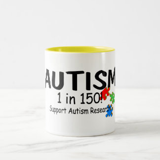 Support Autism Reachers Puzzle Pieces Two-Tone Coffee Mug