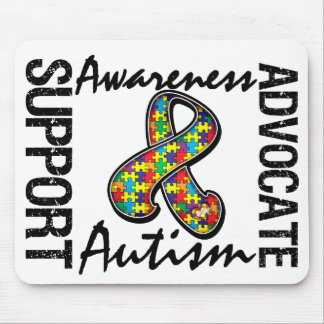 Support Awareness Advocate Autism Mouse Pad