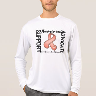 Support Awareness Advocate Cure Endometrial Cancer Tee Shirts