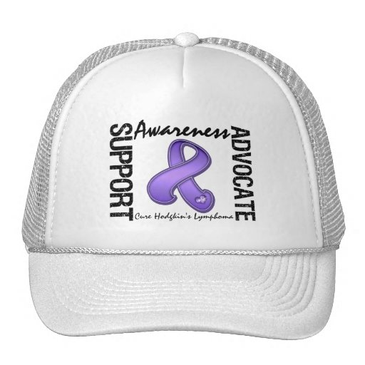 Support Awareness Advocate Cure Hodgkin's Lymphoma Hat
