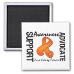 Support Awareness Advocate Cure Kidney Cancer v2 Fridge Magnet
