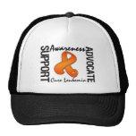 Support Awareness Advocate Cure Leukemia Trucker Hat