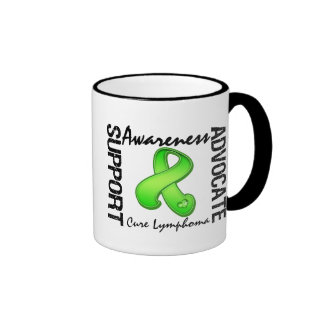 Support Awareness Advocate Cure Lymphoma Ringer Coffee Mug