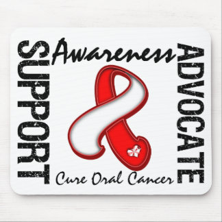Support Awareness Advocate Cure Oral Cancer Mouse Pad