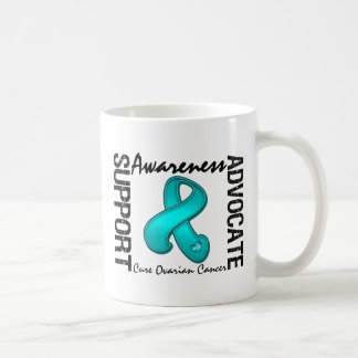 Support Awareness Advocate Cure Ovarian Cancer Classic White Coffee Mug