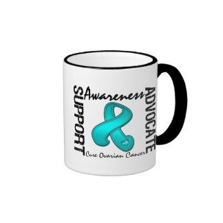 Support Awareness Advocate Cure Ovarian Cancer Ringer Coffee Mug