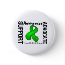 Support Awareness Advocate Traumatic Brain Injury Button