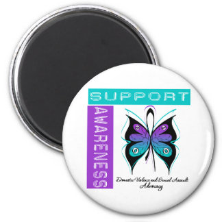 Support Awareness Domestic Violence Sexual Assault 2 Inch Round Magnet