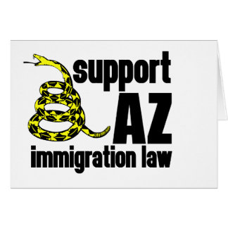 support AZ immigration law Cards