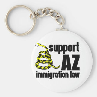 support AZ immigration law Key Chains
