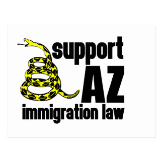support AZ immigration law Post Card