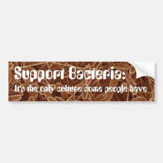 Support Bacteria Car Bumper Sticker