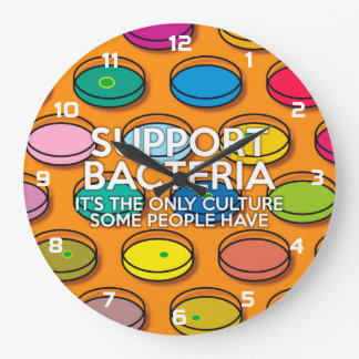 SUPPORT BACTERIA LARGE CLOCK