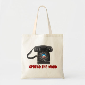 SUPPORT BARACK OBAMA 2012 TOTE BAGS