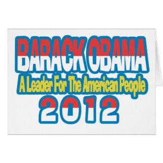 SUPPORT BARACK OBAMA 2012 CARD
