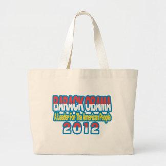SUPPORT BARACK OBAMA 2012 LARGE TOTE BAG