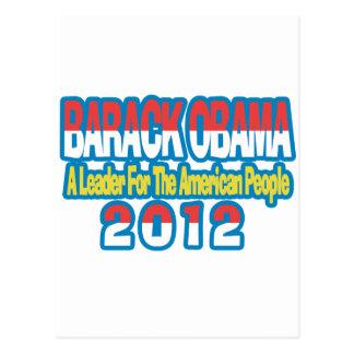 SUPPORT BARACK OBAMA 2012 POSTCARD