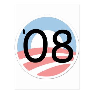 Support Barack Obama, Against Bailout Postcard