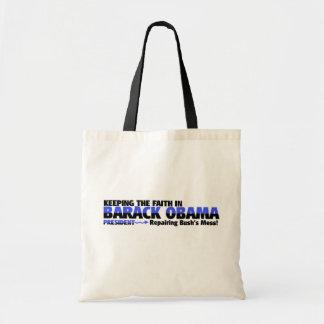 SUPPORT  BARACK OBAMA TOTE BAG