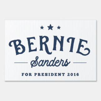 Support Bernie Sanders 2016 Vintage Logo Yard Sign