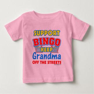 Support Bingo Grandma Baby T-Shirt