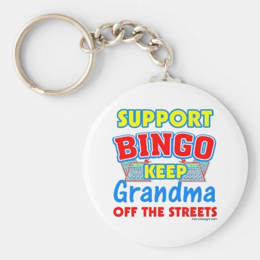 Support Bingo Grandma Key Chains
