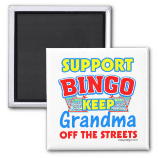 Support Bingo Grandma Fridge Magnet