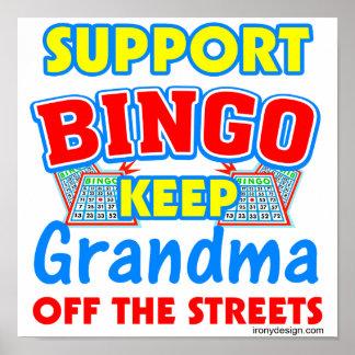 Support Bingo Grandma Posters