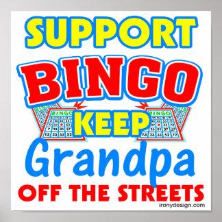 Support Bingo Grandpa Posters