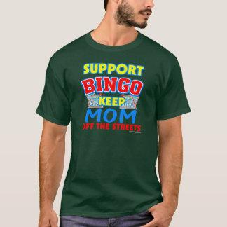 Support Bingo Mom Dark T-Shirts