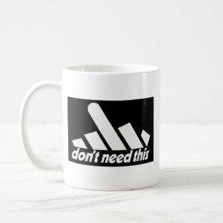 support black classic white coffee mug