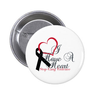 Support Black Ribbon Stop Gang Violence Button