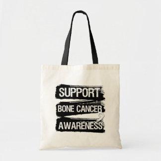 Support Bone Cancer Awareness Grunge Tote Bag