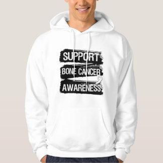 Support Bone Cancer Awareness Grunge Hoodie