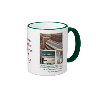 Support bookstores & libraries ringer coffee mug