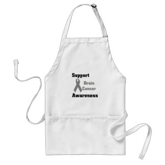 Support Brain Cancer Awareness Adult Apron